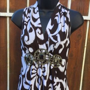 Cache sleeveless w/belt size XS -NWT